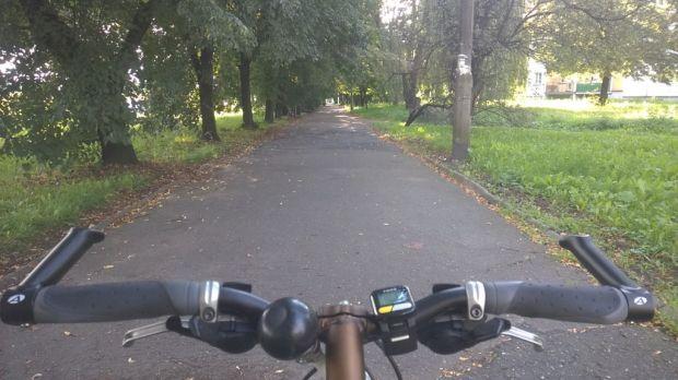 Trasa rowerowa w Zabrzu przy ulicy Wolności
